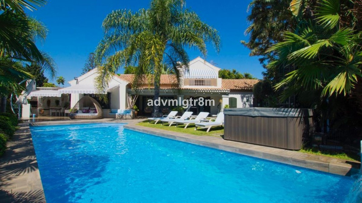INVESTMENT Opportunity! Large Beachfront Detached Villa with Pool in Guadalmina Baja, Marbella